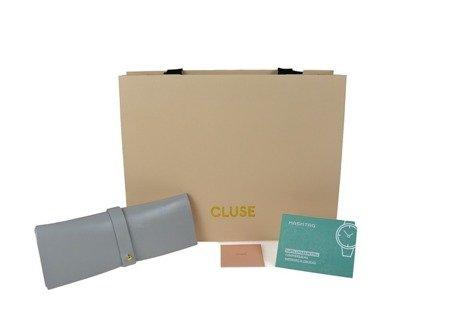 Cluse Gold White Pearl/Black Lizard CL30048