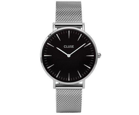 Zegarek damski Cluse La Boheme Mesh Silver/Black CL18106