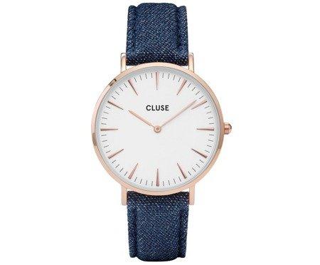 Zegarek damski Cluse La Bohème Rose Gold White/Blue Denim CL18025