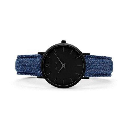 Zegarek damski Cluse Minuit Full Black/Blue Denim CL30031