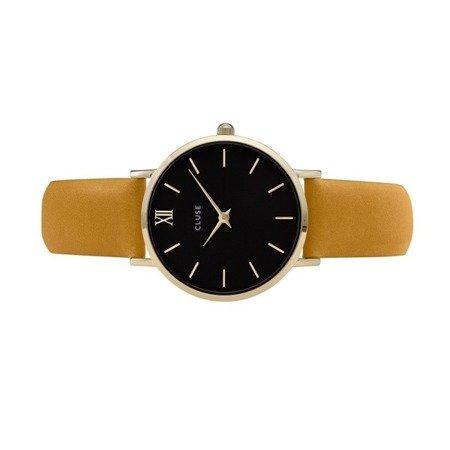 Zegarek damski Cluse Minuit Gold Black/Mustard CL30035
