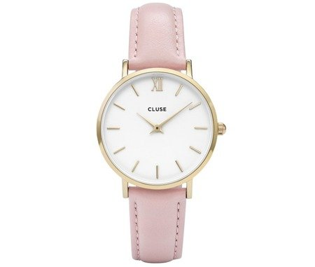 Cluse Minuit Gold White/Pink CL30020