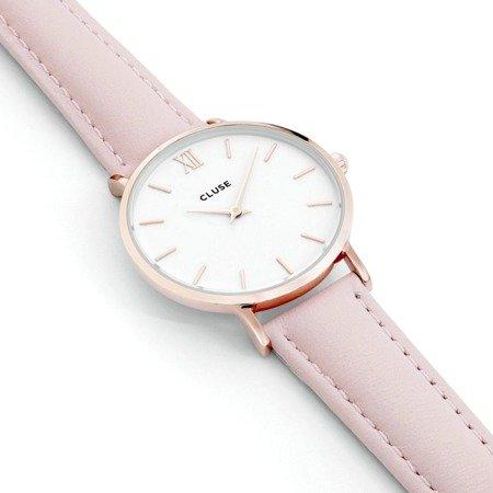 Zegarek damski Cluse Minuit Rose Gold White/Pink CL30001