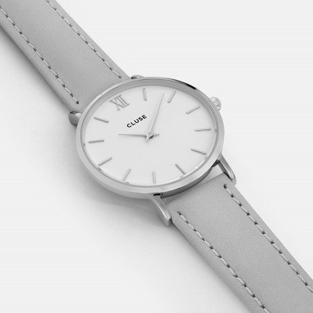 Cluse Minuit Silver White/Grey CL30006